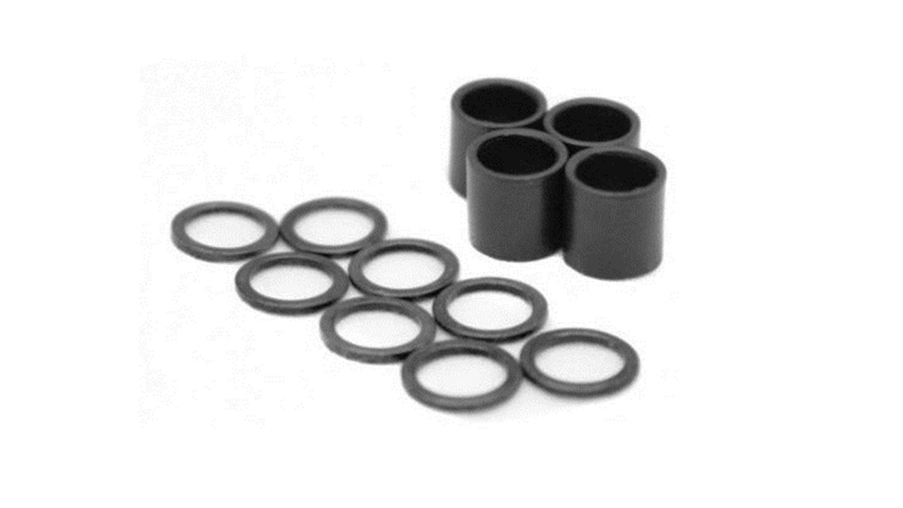 skateboard bearing spacer. hardware kit 8 speed ring washers and 4 bearing spacers skateboard spacer
